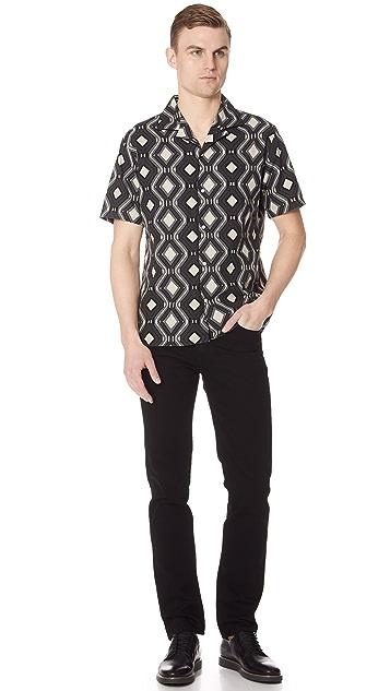 Officine Generale Dario Piping Shirt