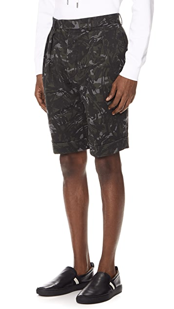 Officine Generale Camo Shorts