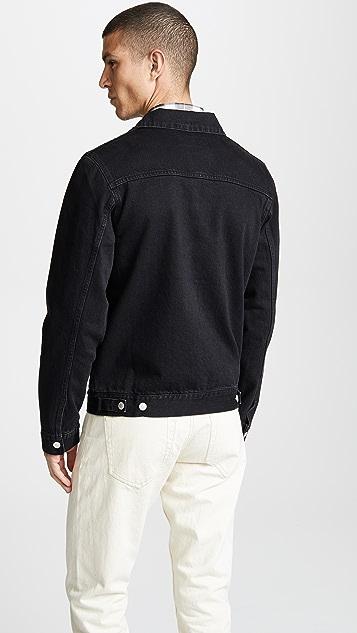 Officine Generale Liam Denim Black Jacket