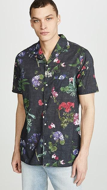 Officine Generale Dario Floral Print Shirt