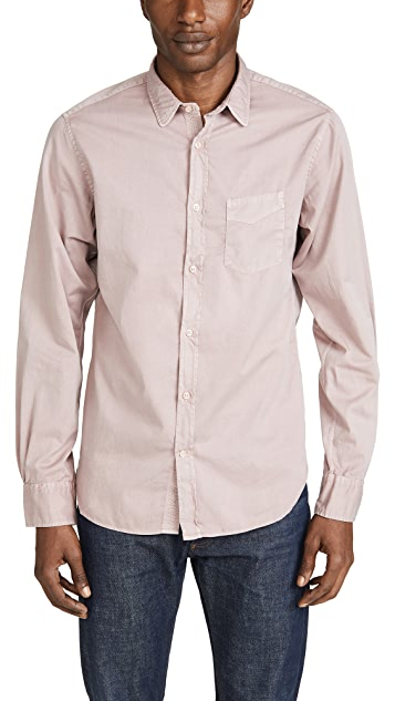 Officine Generale Pigment Dyed Button Down Shirt