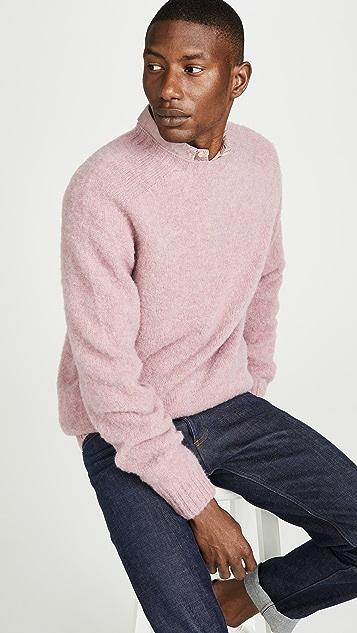 Officine Generale Seamless Brushed Shetland Sweater
