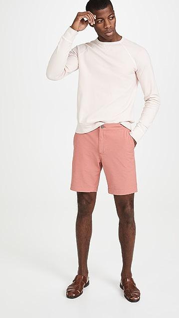 Officine Generale Pigment Dyed Crew Neck Sweatshirt