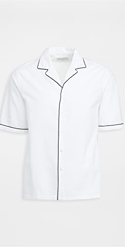 Officine Generale - Eren Piping Co Seersucker Shirt