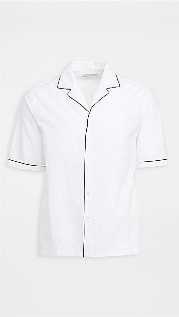 Officine Generale Eren Piping Co Seersucker Shirt