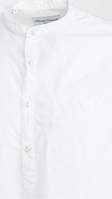 Officine Generale Auguste Cotton Poplin Shirt