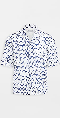 Officine Generale - Eren Jap Cotton Geo Print Shirt