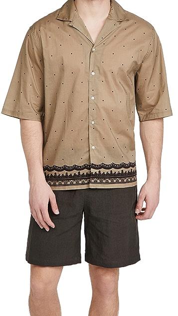Officine Generale Eren Piping Cotton Shirt