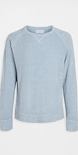 Officine Generale - Rudy Crew Neck Terry Sweatshirt