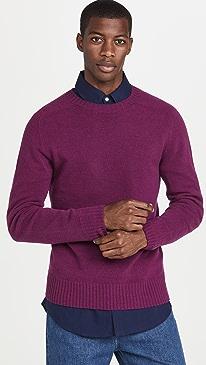 오피신 제너럴 스웨터 Officine Generale Soft Seamless Crew Neck Sweater,Mauve