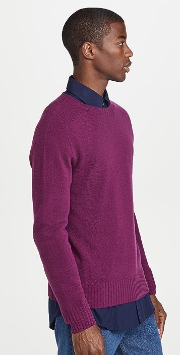 Officine Generale Soft Seamless Crew Neck Sweater
