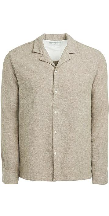 Officine Generale Eren Brushed Flannel Shirt