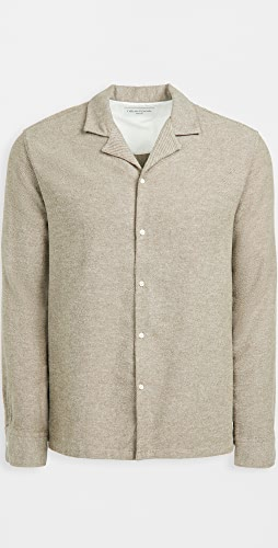 Officine Generale - Eren Brushed Flannel Shirt
