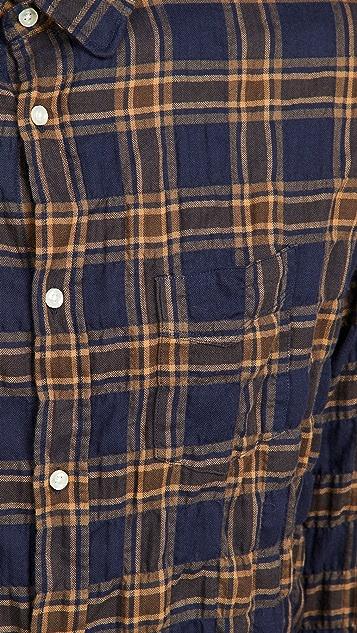 Officine Generale Lipp Wrinkle Check Shirt