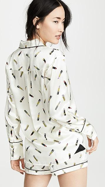 Olivia von Halle Alba 衬衣和短裤睡衣套装