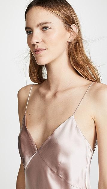 Olivia von Halle Issa Oyster Core Slip