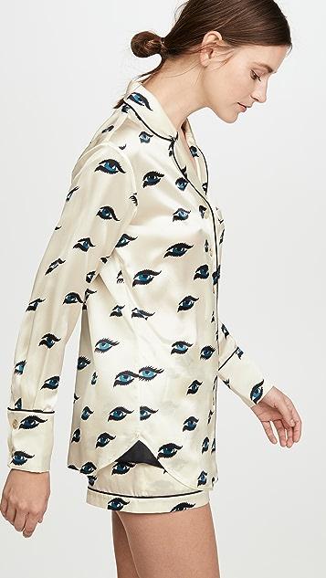 Olivia von Halle Alba 短裤睡衣套装