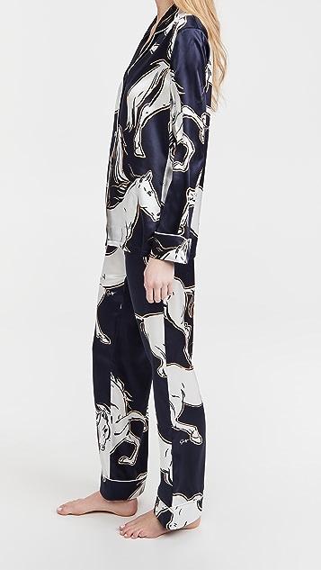 Olivia von Halle Lila Pajama Set