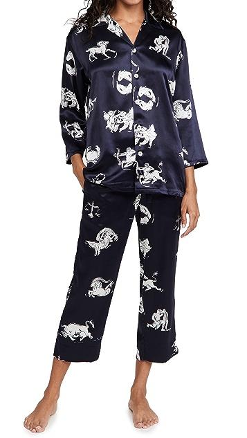 Olivia von Halle Casablanca Pajama Set