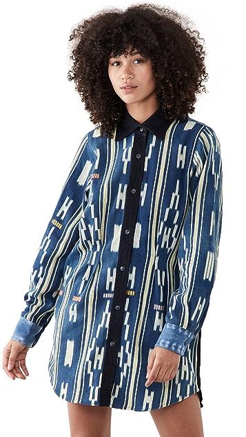 Oak & Acorn Sunrise Shirtdress