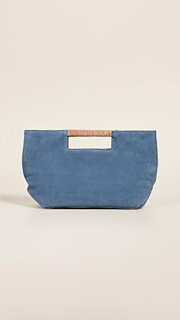 Oliveve Ella Wrapped Handle Clutch - Ocean
