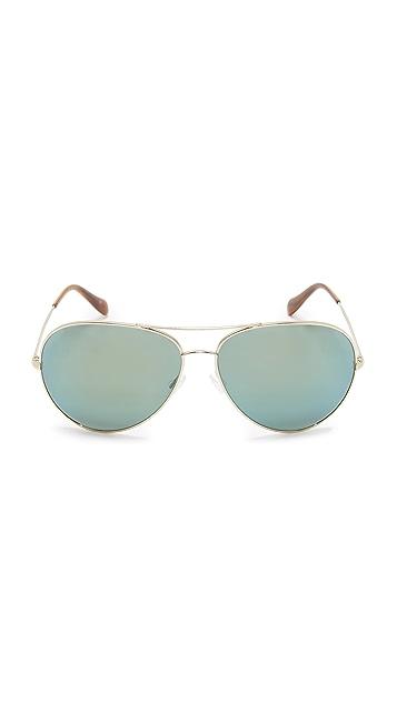 Oliver Peoples Eyewear Sayer Aviator Sunglasses