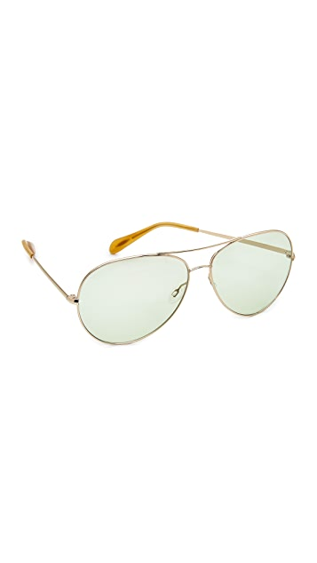 Oliver Peoples Eyewear Sayer Aviator Sunglasses