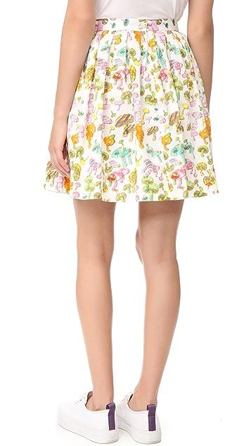 Olympia Le-Tan Gorilla Glue Flared Skirt