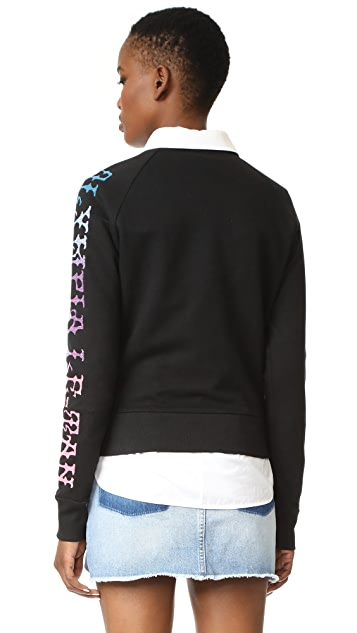 Olympia Le-Tan Griffin Embroidered Sweatshirt