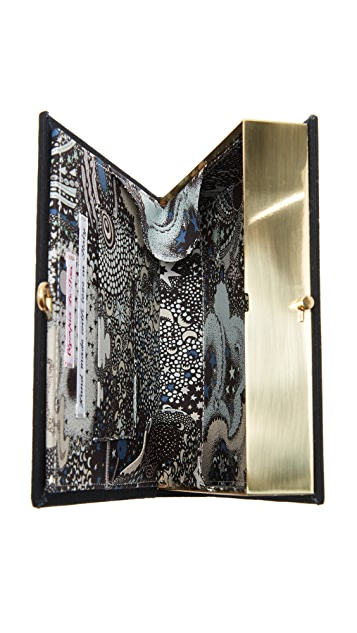 Olympia Le-Tan Word Image Square Clutch