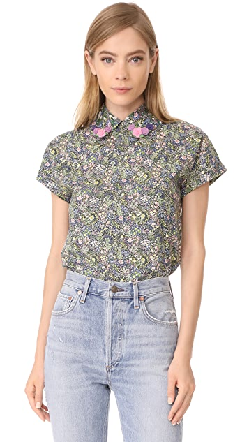 Olympia Le-Tan Lila Liberty Top