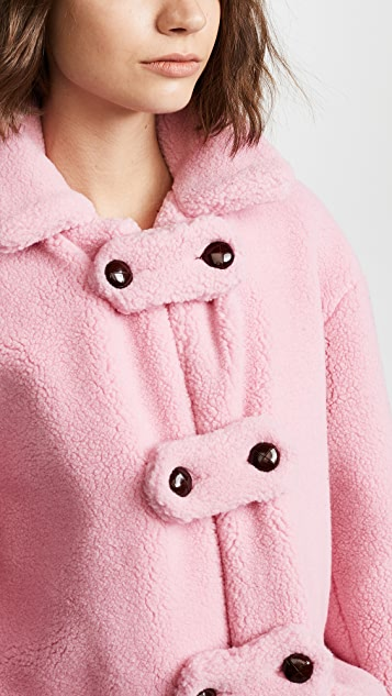 Olympia Le-Tan Alicia Teddy Bear Coat