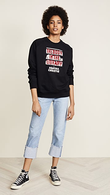 Olympia Le-Tan The Body in the Library Embroidered Sweatshirt