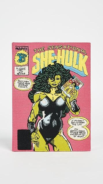 Olympia Le-Tan The Sensational She Hulk Clutch