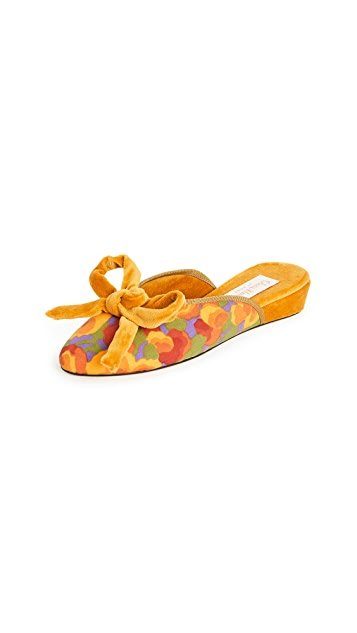 Olivia Morris At Home Daphne Bow Slippers