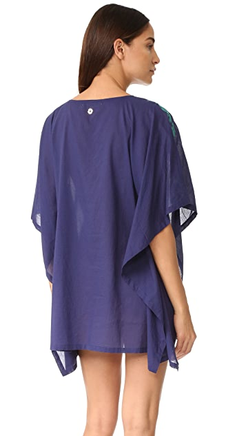 OndadeMar Embroidered Poncho