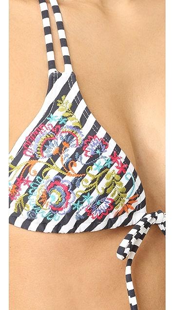 OndadeMar Ciranda Embroidered Triangle Top
