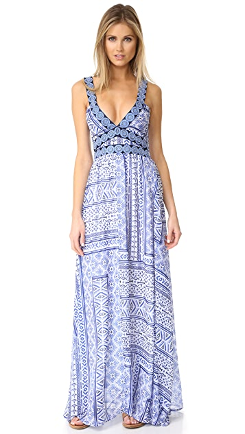 OndadeMar Printed & Embroidered Dress