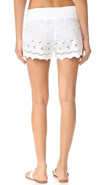 OndadeMar Miranda Embroidered Shorts