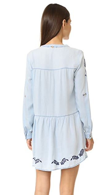 OndadeMar Embroidered Short Dress