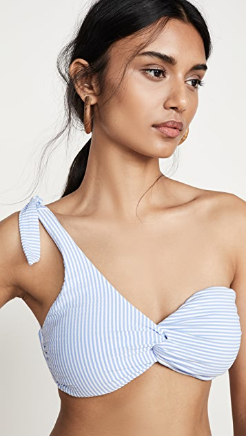 OndadeMar One Shoulder Bikini Top