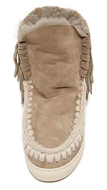 ONE by Mou Eskimo Sneaker Fringe Booties