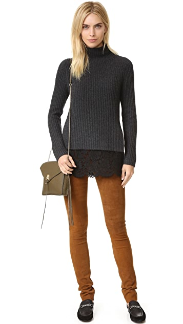 ... ONE by Sienna Zac Cashmere Sweater with Lace Layer ... 6464ac902