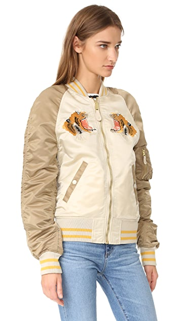 ONE by Alpha Industries Tiger Oversized Souvenir Jacket