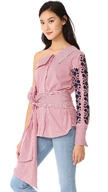 ONE by LAZULI Embroidered Top
