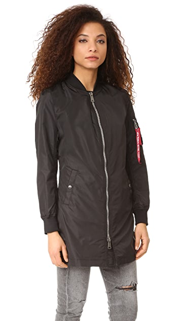 ONE by Alpha Industries Long Bomber Jacket