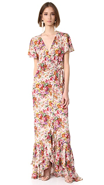 ONE by AUGUSTE Beach House Frill Wrap Maxi Dress