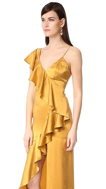 ONE by New Friends Colony Evita Cascade Ruffle Dress