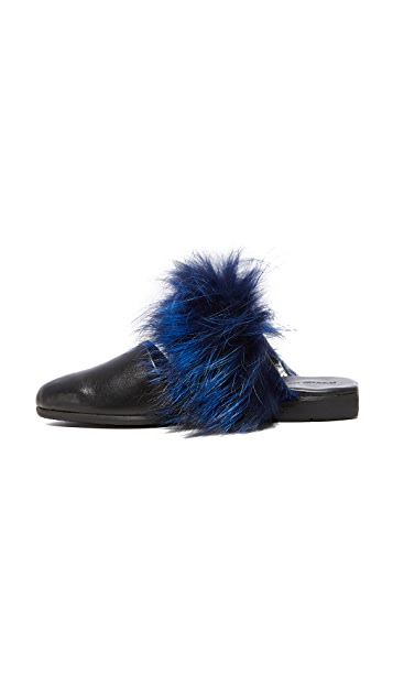 ONE by Parme Marin Two Band Fur Mules