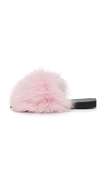 ONE by Parme Marin Furry Baby Slides